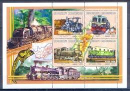 O150- Madagascar Madagaskar 2000. Transport. Trains. - Trains