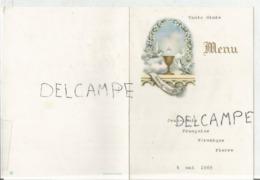 Communion De Jean-Louis, Françoise, Véronique, Pierre Le 4 Mai 1969 - Menus