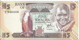 ZAMBIE - 5 Kwacha UNC - Pick 25 - Zambie