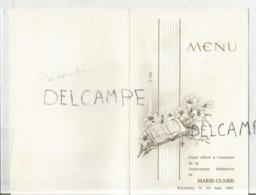 Communion De Marie-Claire Le 12 Mai 1957 - Menus