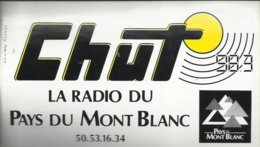 Autocollant - Chut 98.3 La Radio Du Pays Du Mont Blanc - Autocollants