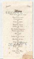 Mariage De Jeanne Et Léon - Menus