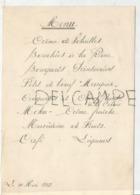 Communion De Cécile Le 11 Mai 1952 - Menus