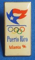 OLYMPIC GAMES, ATLANTA 1996. PUERTO RICO NOC Badge / Pin - Olympische Spelen