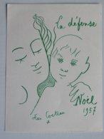 Jean Cocteau La Défense Noël 1957 Secours Populaire Français - Malerei & Gemälde