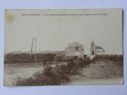 CPA ALGERIE - Ain Et Turck - Vue D'ensemble Des Villas Et De L'église Sur La Plage - Autres Villes