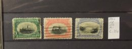 11 - 19 / USA - 1901 - Yvert N° 138 - 139 - 141  Cote : 25 Euros - Oblitérés