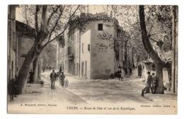 83 VAR - CUERS Route De Nice Et Rue De La République - Cuers