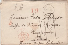Suisse Lettre LENZBURG 19/12/1857 Taxe Manuscrite Cachet Entrée BALE + Marque Passage TB à Pau Basses Pyrénées France - Zwitserland