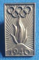 OLYMPIC GAMES,  HELSINKI 1940.  Badge / Pin - Olympische Spelen