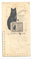 """Buvard - Café Moulu  """" CHAT NOIR """" Avec Règle Graduée - Etat Très Usagé. (b269) - Café & Thé"""