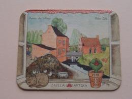 1978 Jaar Van Het Dorp HALEN-ZELK Stella Artois ( Sous Bock / Coaster / Onderlegger ) Zie Foto's Voor Detail ! - Sous-bocks