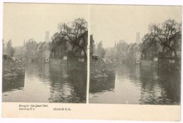 Carte Stéréoscopique - Bruges - Le Quai Vert - Stereoscopische Kaarten