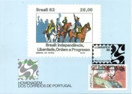 PORTUGAL. N°1621 De 1984 Sur Carte Commémorative. Dom Pedro Empereur Du Brésil. - 1910-... République