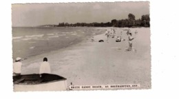 SOUTHAMPTON, Ontario, Canada, White Sandy Beach, Bathers, Old Real Photo Postcard, Bruce County - Ontario