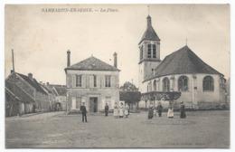 DAMMARTIN EN SERVE ( 78 - Yvelines ) - La Place ( Rue Animée , Personnes , Mairie , Eglise ) - TTB Etat - Autres Communes