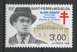 SPM Miquelon 1998 N° 669 ** Neuf MNH Superbe C 1,70 € Alain Savary Gouverneur Député Assemblée Nationale - St.Pierre Et Miquelon