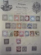 COLLECTION ALLEMAGNE Et ETATS Feuille Album Ancien - A Voir - 37 Scans - Briefmarken