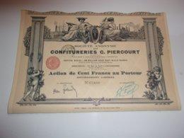 CONFITURERIES G. PIERCOURT (imprimerie RICHARD) - Azioni & Titoli