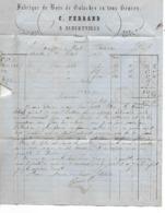 Facture 1876 / 73 ALBERTVILLE / C. FERRAND / Fabrique De Bois,de Galoches / Bourdon, Tanneur à BESANCON - Francia