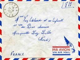 Franchise Militaire :  Lettre Affranchie Du Bureau FOUKA ( Alger) - 1956 - Cachets Militaires A Partir De 1900 (hors Guerres)