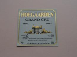 HOEGAARDEN > Triple GRAND CRU Tripel 33 Cl - 7 % ( Zie / Voir / See / Zie Foto ) ! - Bière