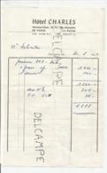 Note De L'hôtel Charles à De Panne Le 30 Août 1964 - Sports & Tourisme