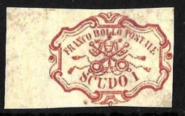 501 - ITALY - CHURCH STATE - 1850 - RARE 1 SCUDO - FORGERY - FAUX - FAKE - FALSE - Briefmarken