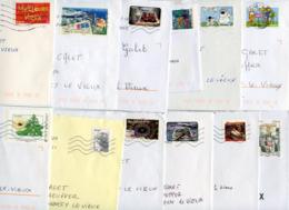 LOT DE 57 LETTRES PERIODE 2001 à 2012 FORMAT 16cmx11.5cm AU TARIF ET DANS LES DATES POUR LA PLUPART - Marcophilie (Lettres)