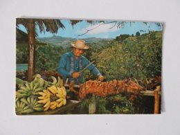 CPA.- CANOVANAS Puerto Rico's Typical Lechon Asado Mr.Angel ORTIZ Owner 1979 - Puerto Rico