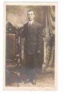 NEWMARKET, Ontario, Canada, Studio Pose Of Nephew, RR?, Pre-1919 Real Photo Zurbrigg Postcard, York County - Ontario