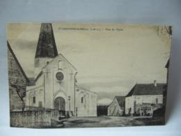 SAINT CHRISTOPHE EN BRESSE  71 SAÔNE ET LOIRE BOURGOGNE PLACE DE  L'EGLISE    CPA - Frankreich