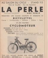 - 94 - SAINT-MAUR -  Publicité LA PERLE, Cyclomoteur - Motos