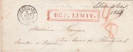Lettre GUEBWILLER Haut Rhin 3/8/1848 Taxe Manuscrite Cachet DEP LIMIT à Schinznach Suisse Verso Bureau Français Bâle - 1801-1848: Voorlopers XIX