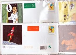 France 2 Enveloppes TINTIN Illustrées Sous Blister Avec Cartes Tarif International TVP Affranchissement 2.6 Francs - Prêts-à-poster: Other (1995-...)