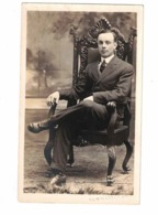 NEWMARKET, Ontario, Canada, Studio Pose Of Same Nephew, Pre-1919 Real Photo Zurbrigg Postcard, York County - Ontario