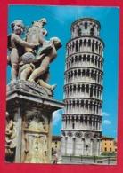 CARTOLINA VG ITALIA - PISA - La Totte Pendente - 10 X 15 - 1966 AMB. LA SPEZIA GENOVA - Pisa