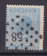 N° 18 A : 58 BRUGES - 1865-1866 Profile Left