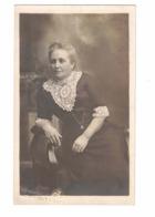 NEWMARKET, Ontario, Canada, Studio Pose Of Woman In Fancy Dress, Pre-1919 Real Photo Zurbrigg Postcard, York County - Ontario
