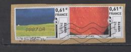 2014   Ciel  Bleu   Ciel  Rouge  2  Timbres - 2010-... Illustrated Franking Labels