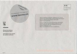 Schweiz Bern P.P. Steuerverwaltung Des Kantons Bern Wappen Bär - Briefe U. Dokumente