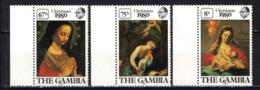 GAMBIA - 1980 - Christmas - Paintings By Correggio And Francesco De Mura - MNH - Gambia (1965-...)