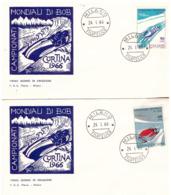 2 Fdc Flavia: MONDIALI DI BOB 1966; No Viaggiata; AF_Milano - 6. 1946-.. Republic