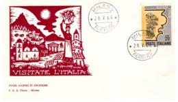 Fdc Flavia:VISITATE L'ITALIA 1966; No Viaggiata; AF_Milano - F.D.C.