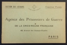CP Accusé Réception Colis Agence Des Prisonniers De Guerre Section Des Secours Croix-Rouge Paris Camp De DARMSTADT - Guerre De 1914-18