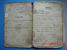 Freyming Merlebach Livret De Famille Avec Tampon Freymingen Merlenbach - Freyming Merlebach