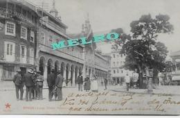 """Portugal -BRAGA - Largo Hintze Ribeiro - As Arcadas - Circulado Em 20-Fev.1909) """"Edição Da Tabacaria Mattos -Braga"""" - Braga"""