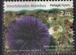 Portugal 2010 Oblitéré Açores Invertébrés Marins Sphaerechinus Granularis Oursin Granuleux Ouriço De Espinhos Curtos SU - Azores