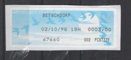 1998   Betschdorf - 1990 «Oiseaux De Jubert»