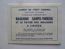 Carnet Comportant 8 Vignettes Basilique Sainte Thérèse Et Le Foyer Des Malades à Lisieux - Erinnophilie